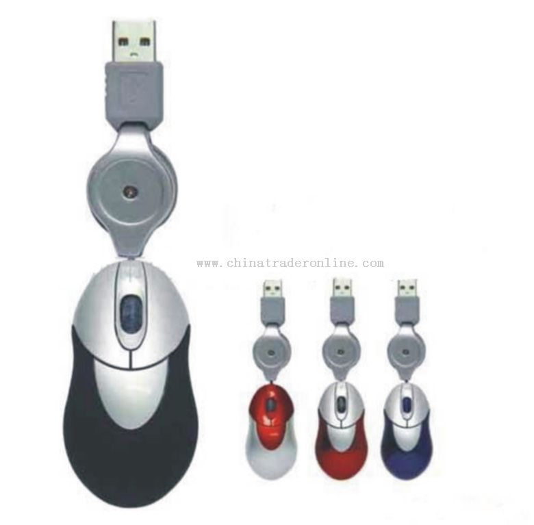 Mini Notebook Mouse With Retractable Cable