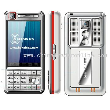 TV mobile phone with dual sim card with  bluetooth with fm radio with double camera