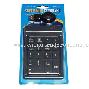 Waterproof flexible Number Pad from China