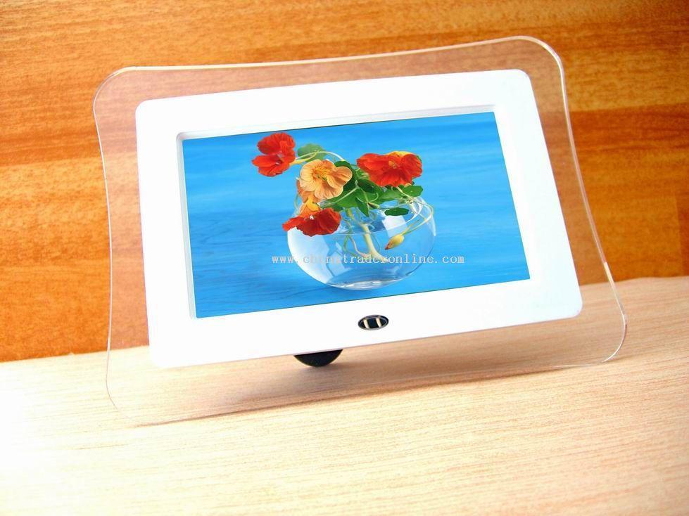 7-inch16:9 size Active Matrix TFT LCD display Digital Photo Frame