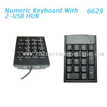 Mini USB Hub Digital Keyboard