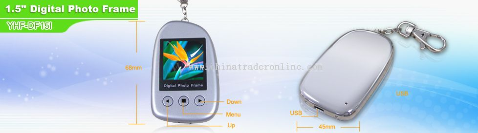 1.5 CSTN screen digital photo frame