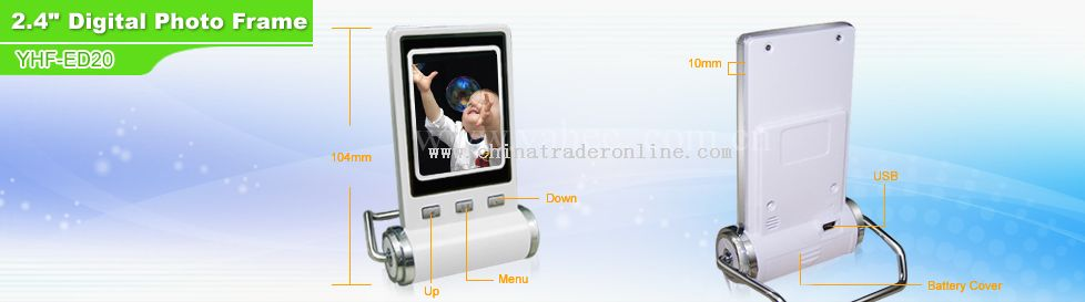 2.4 digital photo frame