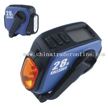 Crank Dynamo Pedometer with LED Flashlight