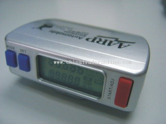 Pedometer with step and calorie count