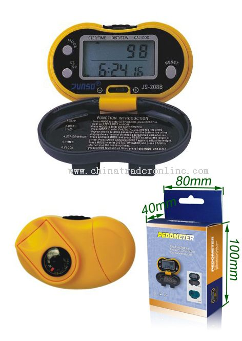 Pedometer with Thermometer