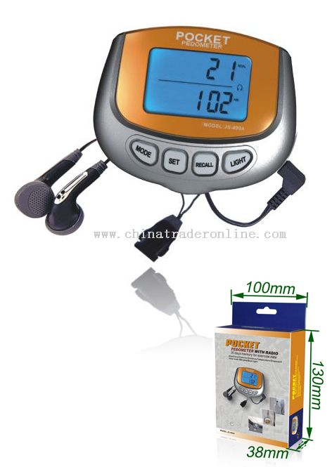 Pocket Pedometer with Radio