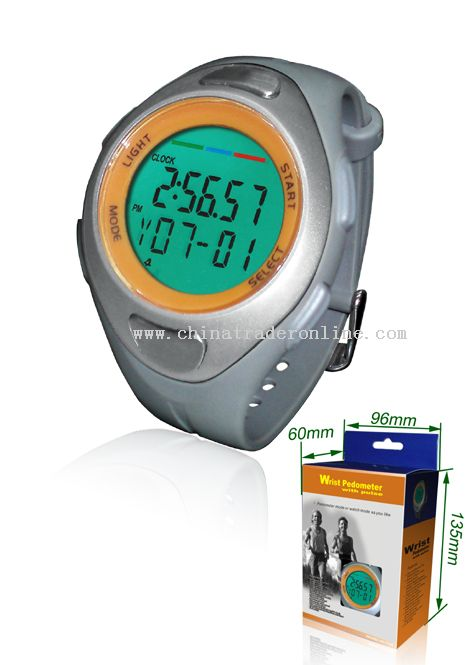 Wrist Pedometer with Pulse