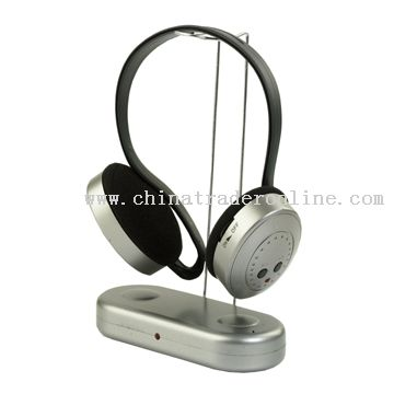 2 in 1 Wireless headphone FM radio function from China
