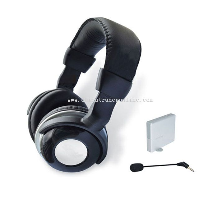 Wireless stereo headphone with dual interphone