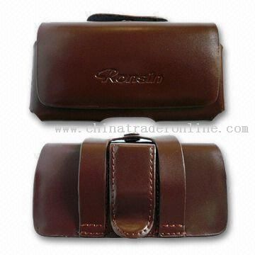 Genuine Leather Mobile Phone Case with Perfect Design and Workmanship from China