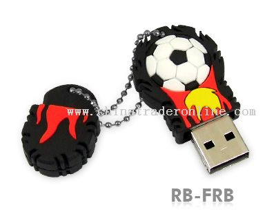 Solid soft PVC housing football USB Momery Stick