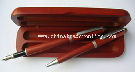 2pcs Wooden Pen set