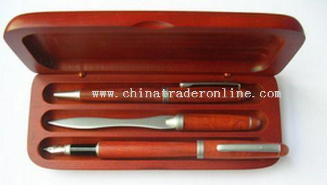 3pcs Wooden Pen set