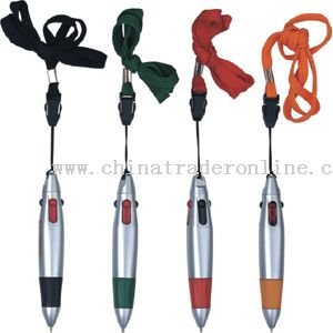 4-colors pen with lanyard