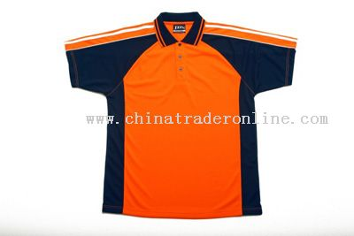 Hi Vis Polo with Navy Contrast