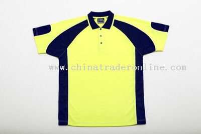 Hi-Vis Polo with Navy Contrast