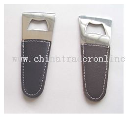 Bottle Opener With Leather Coating