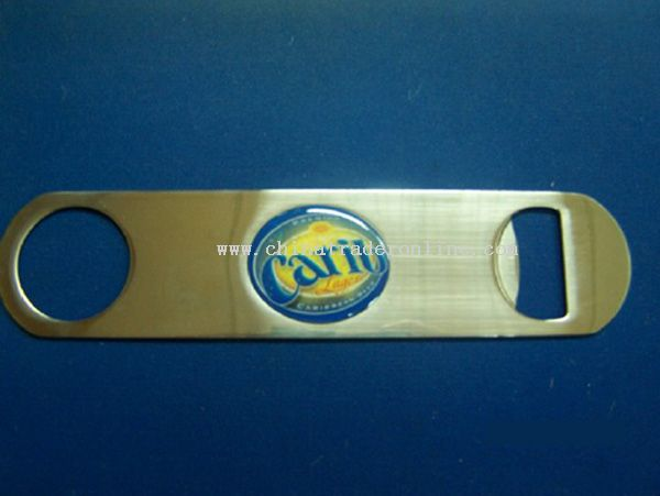 Bottle Opener With Printed Sticker
