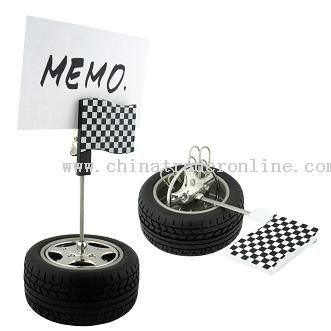 TIRE SHAPE PAPER CLIPS CONTAINER