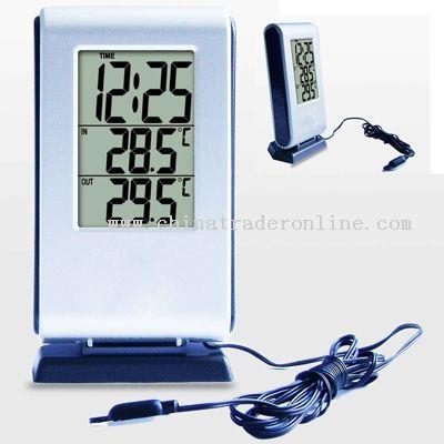 LCD Digital Clock with Indoor & Outdoor Temperature