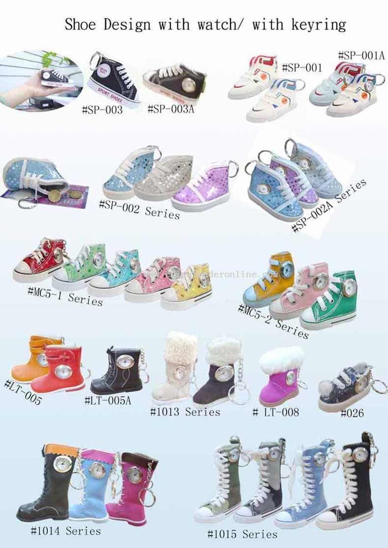 shoe design watch keyring