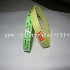 Silicone Rubber Bracelet from China