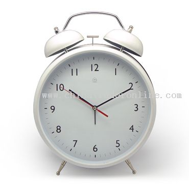 Jumbo Metal Twin Bell Clock
