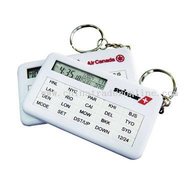 keychain world time clock