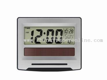 Large screen digital clock with solar power supply