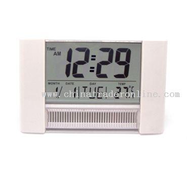 Large screen solar power LCD clock