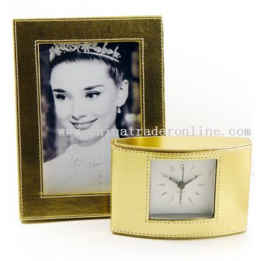 Leather Clock and Photo Frame Sets