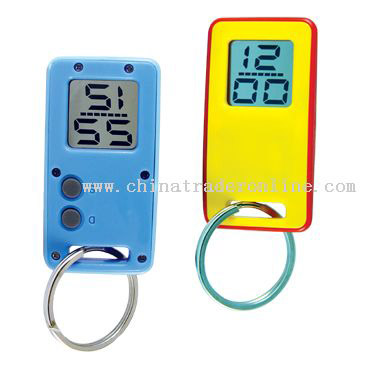 Mini Digital Clock with key ring