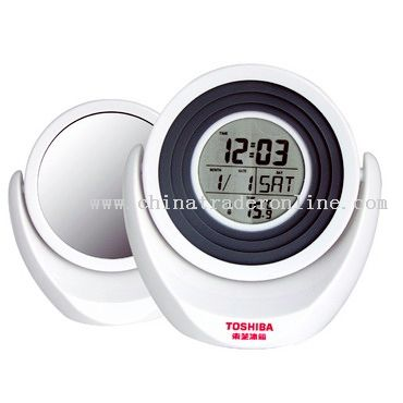 Multifunctional Digital clock with make up mirror from China