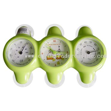 Hygrothermograph Suctiong Clock