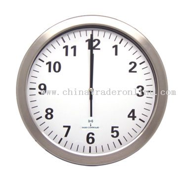 Metal Radio Controlled Wall Clock from China