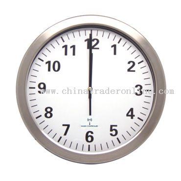 Metal Radio Controlled Wall Clock