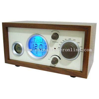 Wood Frame Clock Radio