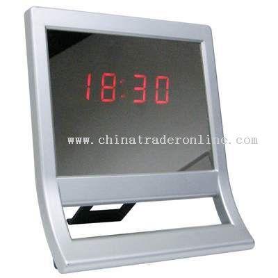 LED Mirror Clock