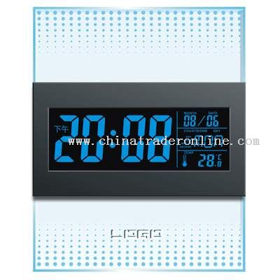 Sound-stimulated LCD Clock