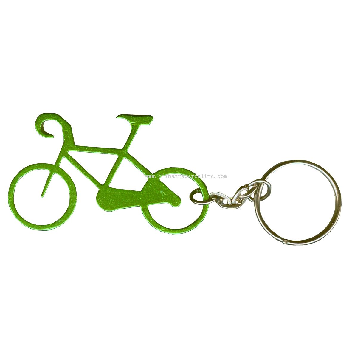 Bike Shape Bottle opener Keychain from China