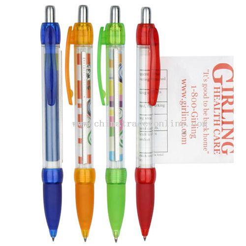 Flag ball pen