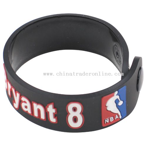 Soft rubber bracelet from China