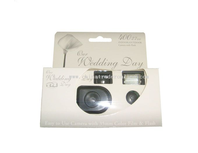 35mm Wedding Camera with Built-in Flash