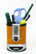 Fashionable Pen Holder with Alarm Clock