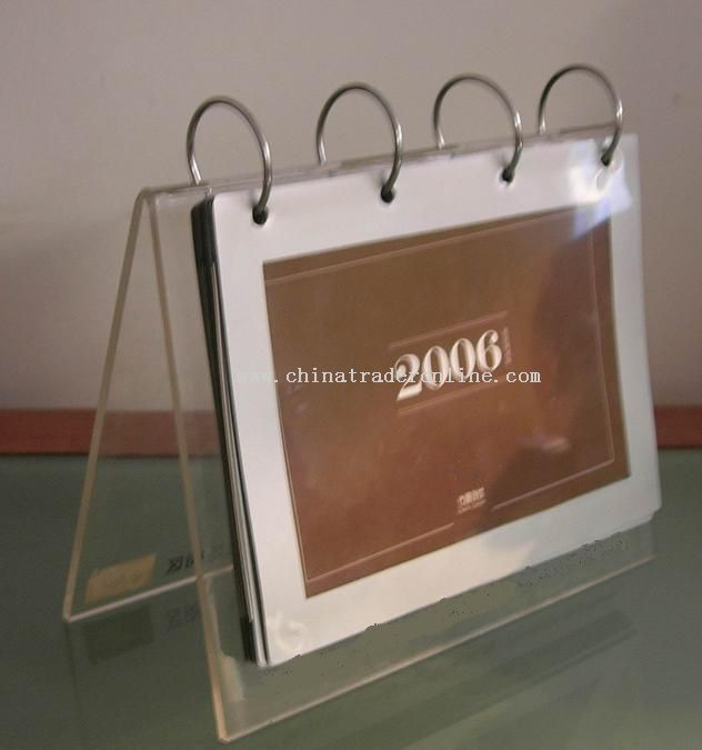 acrylic calendar holder from China