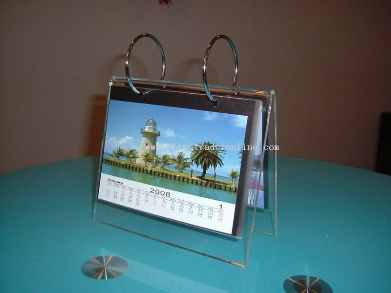 Acrylic table calendar from China