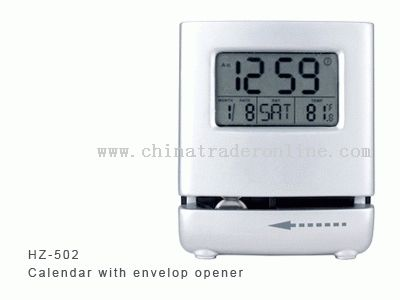 Pen Holder with Calendar Alarm clock and Envelop opener