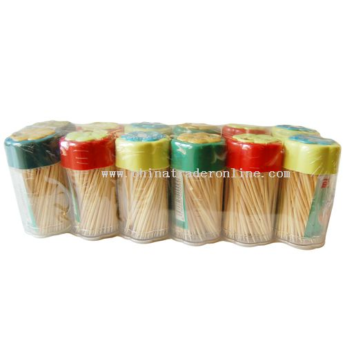 Bamboo toothpick with holder