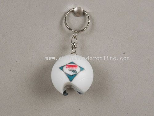 football bottle opener with keychain